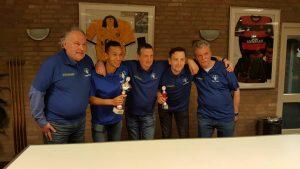 vlnr Henk van Ettekoven, Nicolas Henon, Jan van Dijk, Paul Reijbroek, Ton Boks